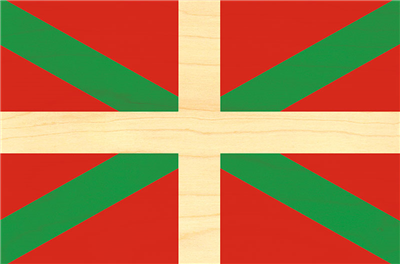 Carte postale pays basque drapeau