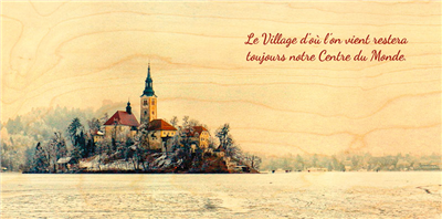 Carte panoramique lac gelé