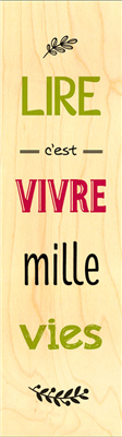 Marque-page mille vies