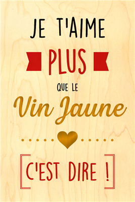 Happy wood vin jaune