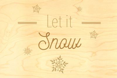 Carte de voeux let it snow