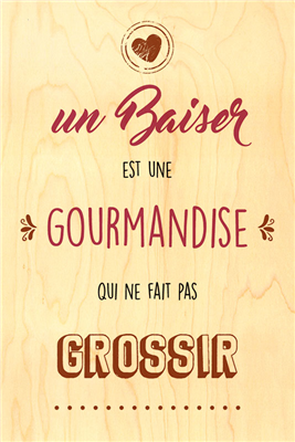 Happy wood baiser gourmandise