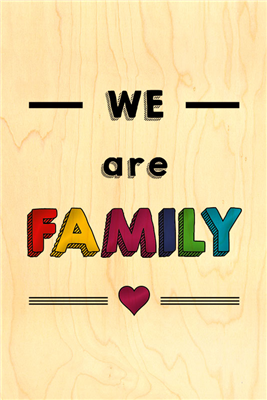 Happy wood we are family