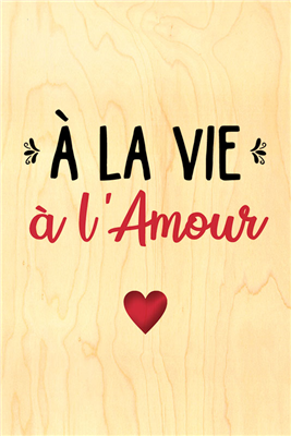 Happy wood à la vie à l'amour
