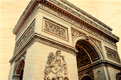 Carte postale arc de triomphe marron