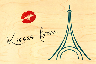 Carte postale kisses from paris