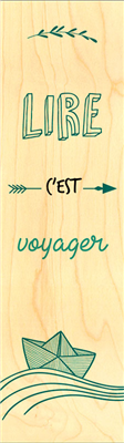 Marque-page lire voyager