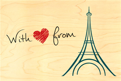 Carte postale with love from paris